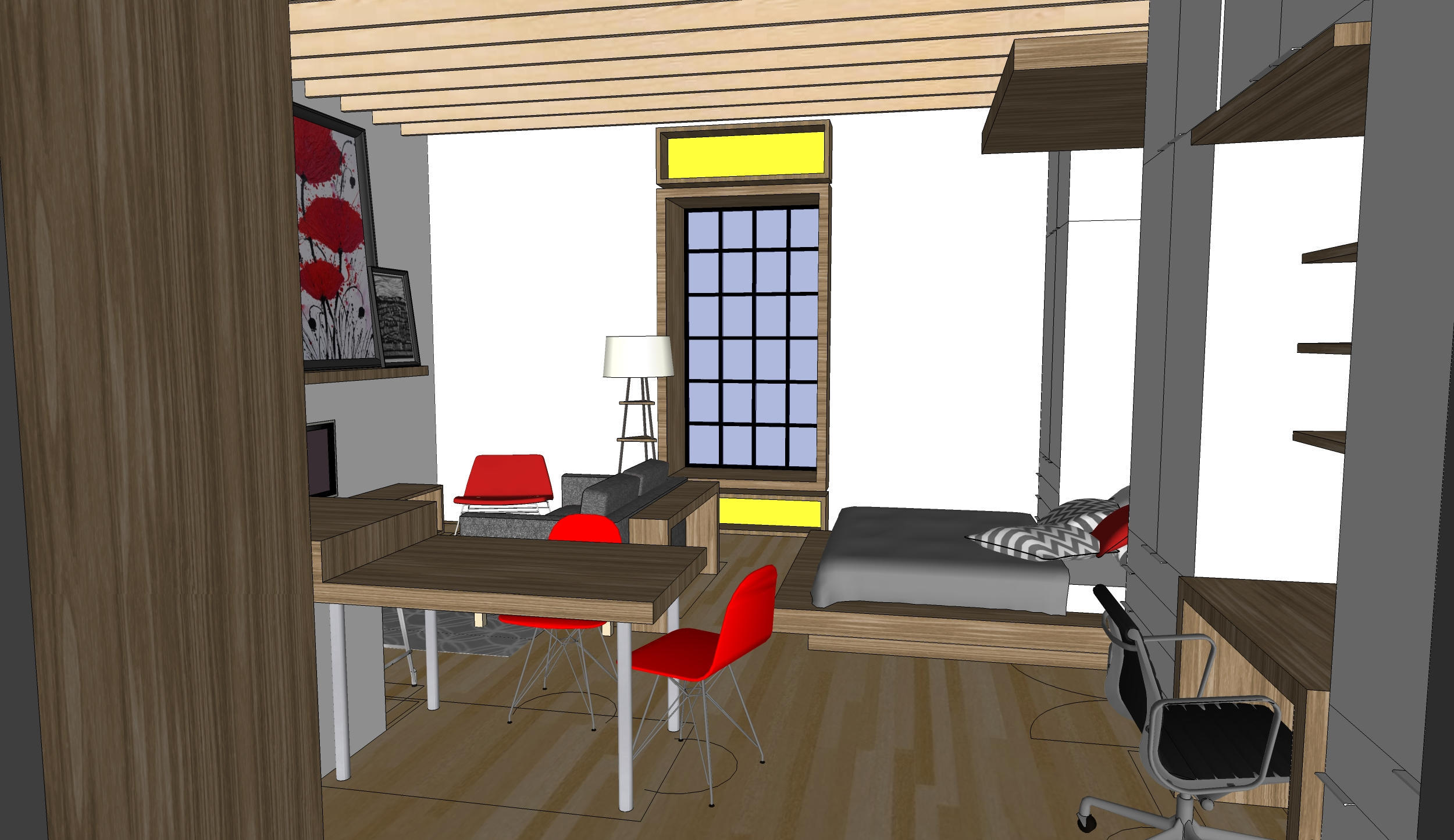 Alpine 3d media apartment interior remodel for Grand designs 3d renovation interior